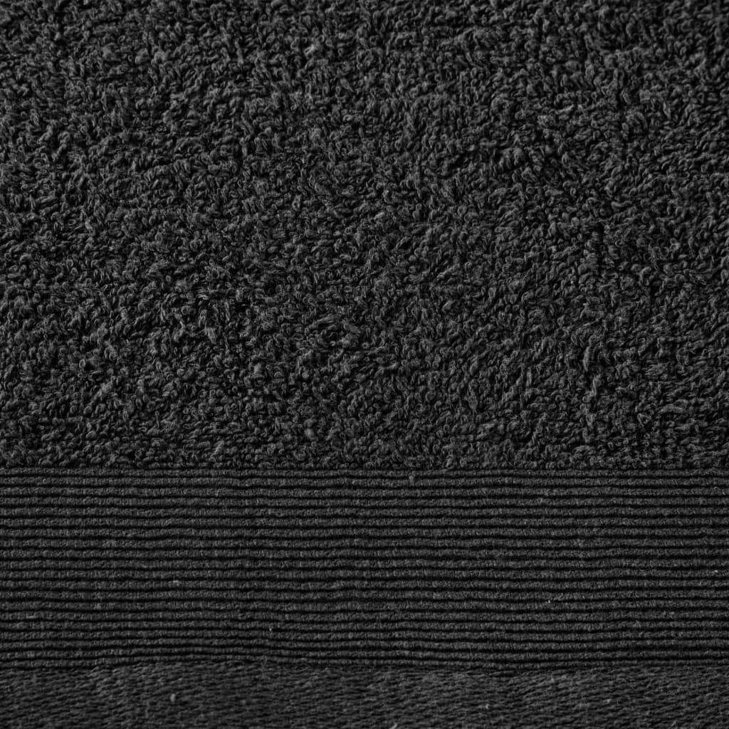 Set prosoape, 12 buc., negru, bumbac, 450 gsm