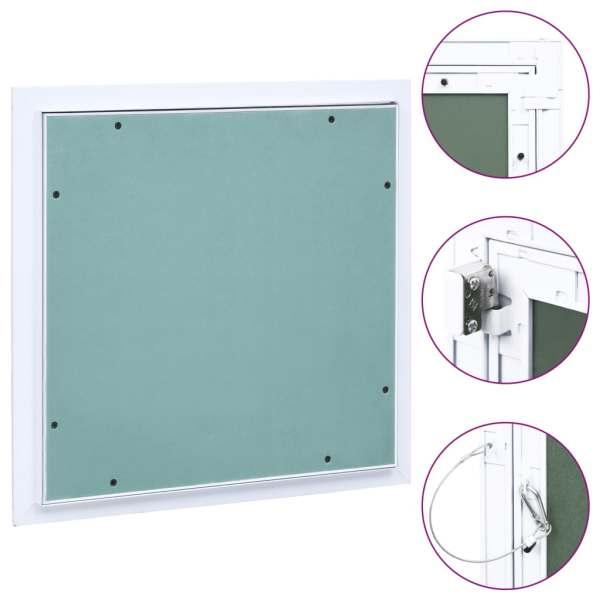 vidaXL Trapă de acces din gips-carton, cadru de aluminiu, 400 x 400 mm