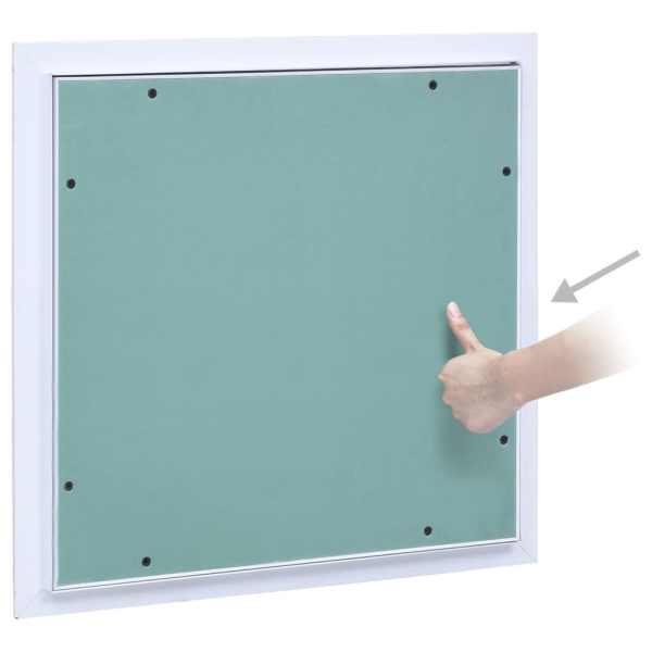 Trapă de acces din gips-carton, cadru de aluminiu, 400 x 400 mm