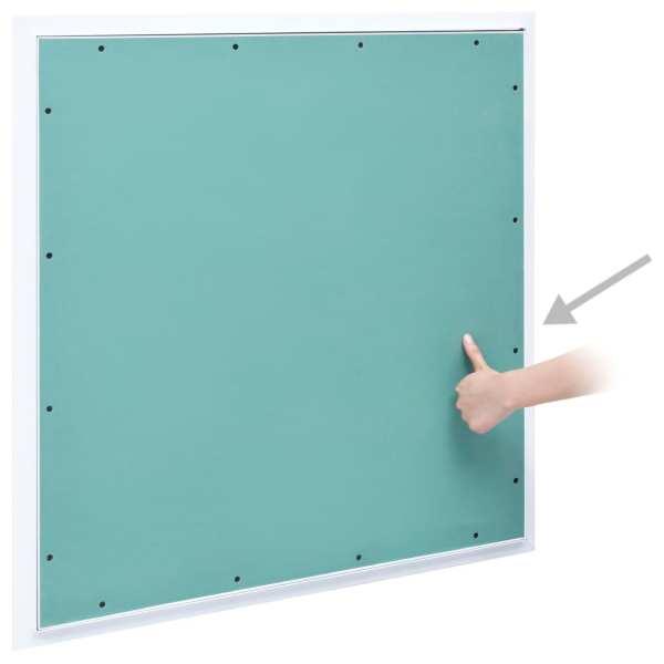 Trapă de acces din gips-carton, cadru de aluminiu, 500 x 500 mm