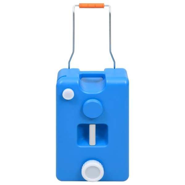 vidaXL Rezervor de apă cu roți pentru camping, albastru, 25 L