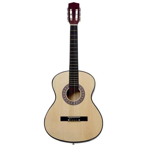 Chitară clasică pentru începători, 4/4 39″, lemn de tei