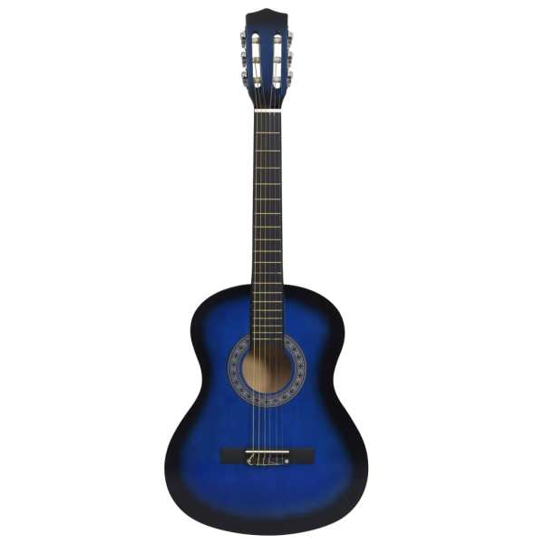Chitară clasică pentru începători și copii, albastru, 3/4 36″