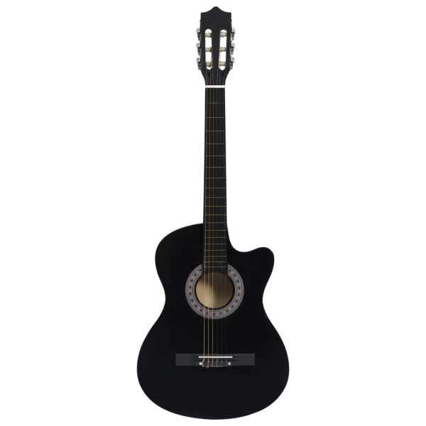 Chitară acustică occidentală decupată, cu 6 corzi, 38″, negru