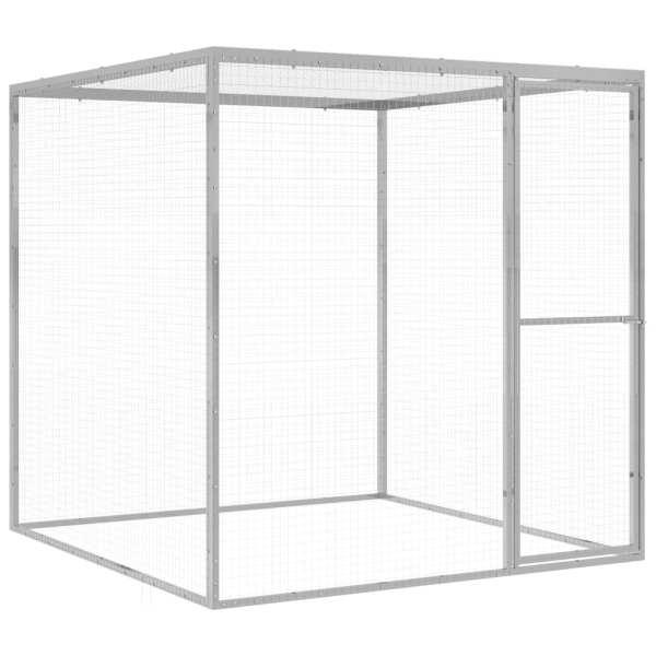 vidaXL Cușcă pentru pisici, 1,5×1,5×1,5 m, oțel galvanizat