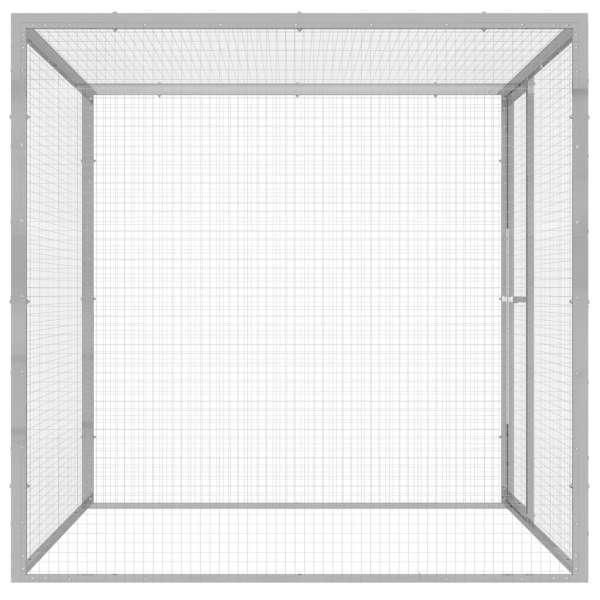 Cușcă pentru pisici, 1,5×1,5×1,5 m, oțel galvanizat