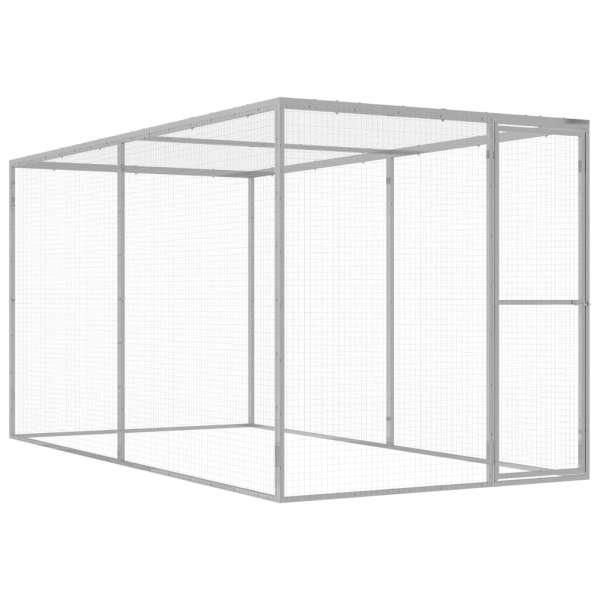 vidaXL Cușcă pentru pisici, 3×1,5×1,5 m, oțel galvanizat