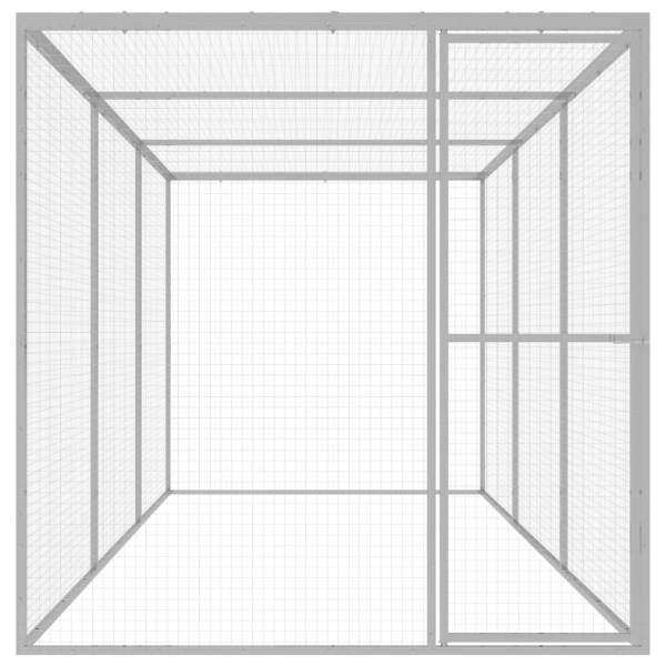 Cușcă pentru pisici, 4,5 x 1,5 x 1,5 m, oțel galvanizat