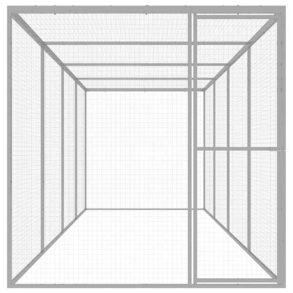 Cușcă pentru pisici, 6 x 1,5 x 1,5 m, oțel galvanizat