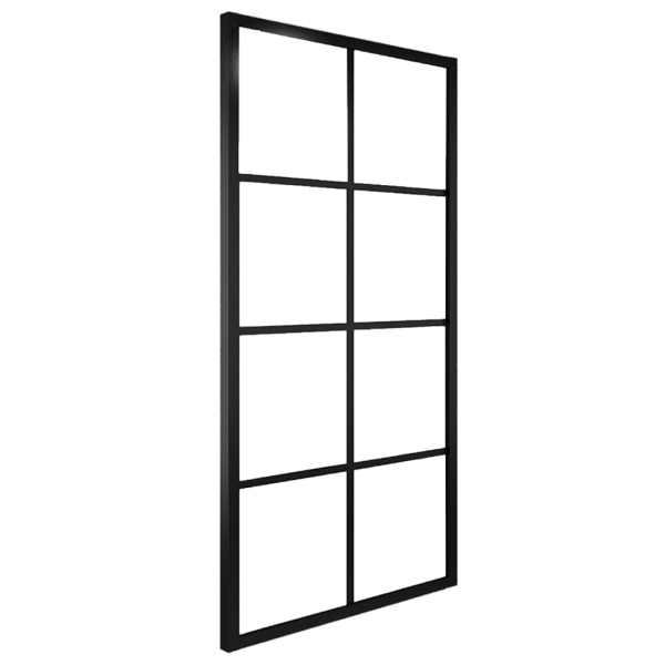 Ușă glisantă aluminiu și sticlă ESG 83×205 cm negru