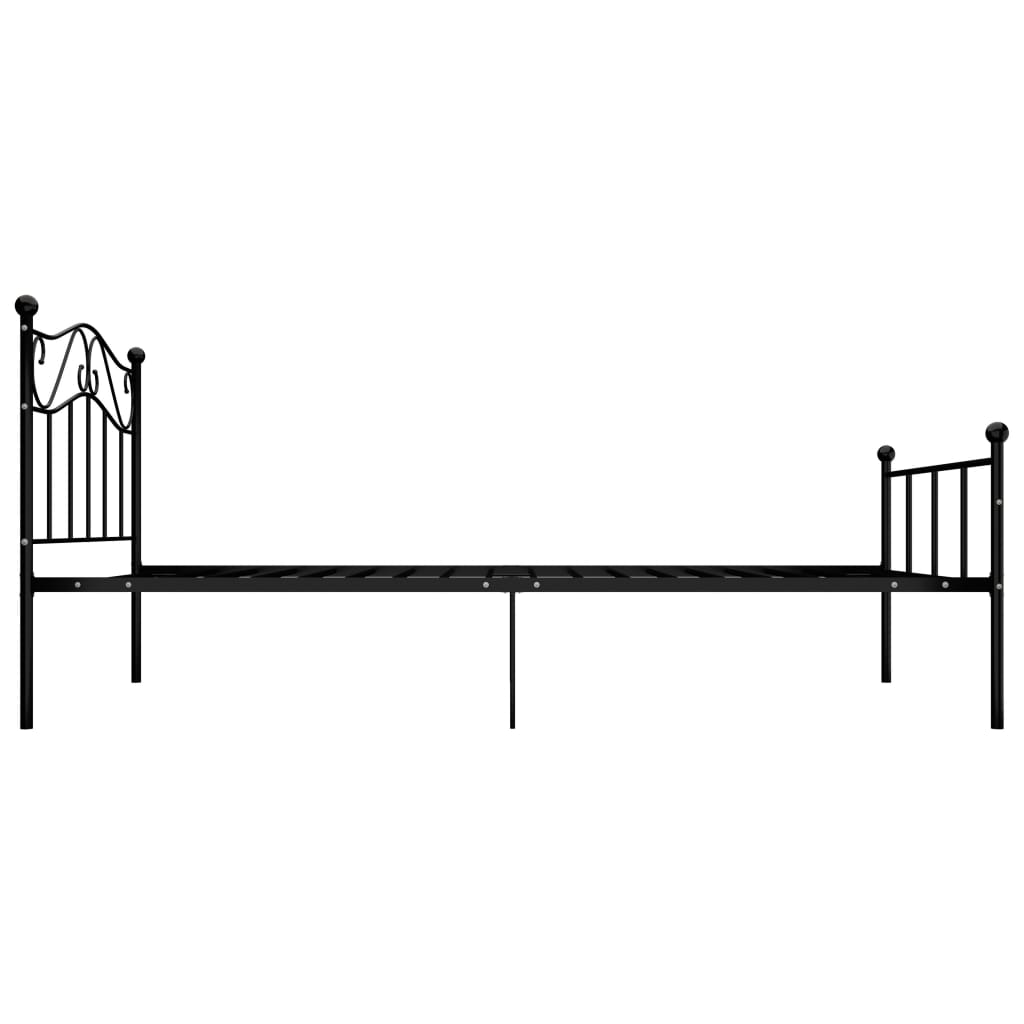 Cadru de pat, negru, 90 x 200 cm, metal