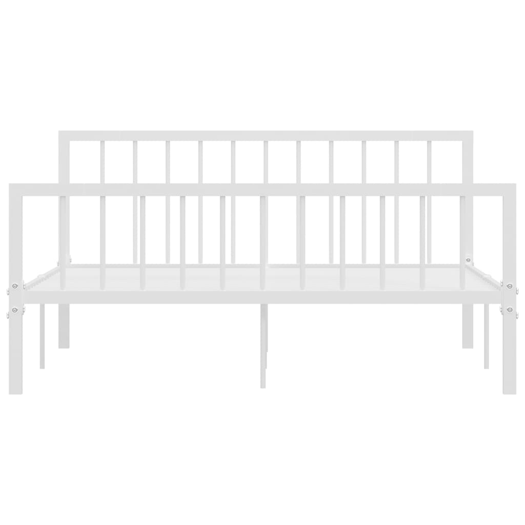 Cadru de pat, alb, 160 x 200 cm, metal
