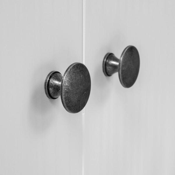 Șifonier cu 2 uși Hill Range, alb, 89x50x170 cm, lemn masiv pin