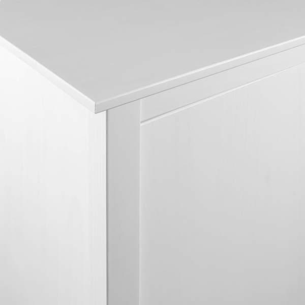 Șifonier cu 2 uși Hill Range, alb, 99x45x137 cm, lemn masiv pin