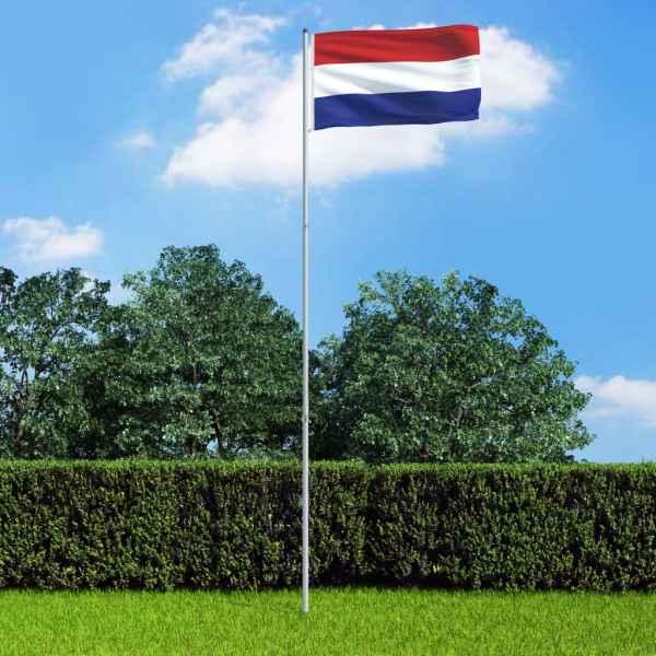vidaXL Steag Olanda și stâlp din aluminiu, 6 m