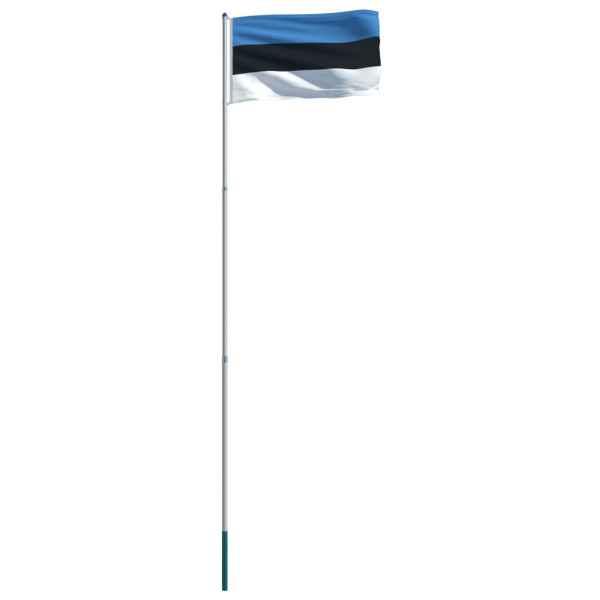 Steag Estonia și stâlp din aluminiu, 6 m