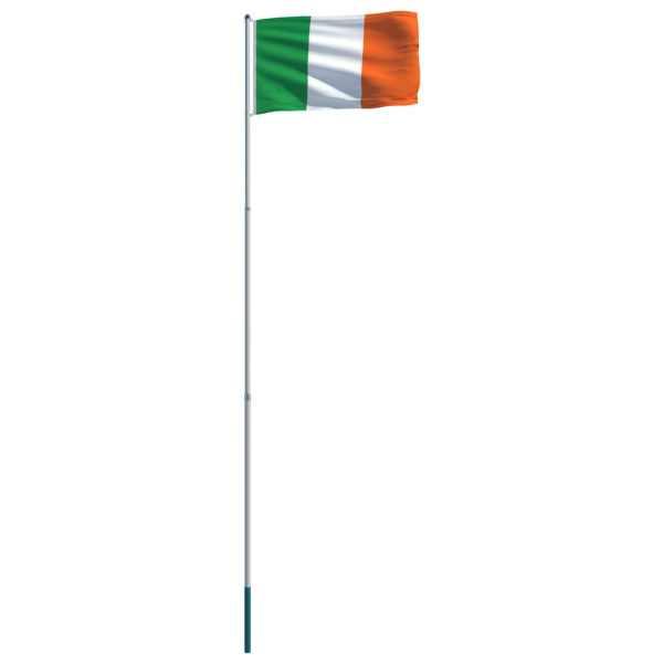 Steag Irlanda și stâlp din aluminiu, 6 m