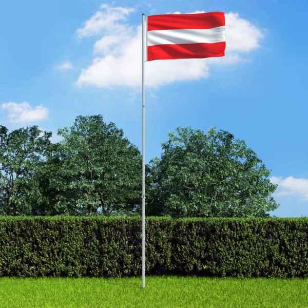vidaXL Steag Austria și stâlp din aluminiu, 6 m