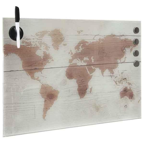 Tablă magnetică de perete, sticlă, 60 x 40 cm