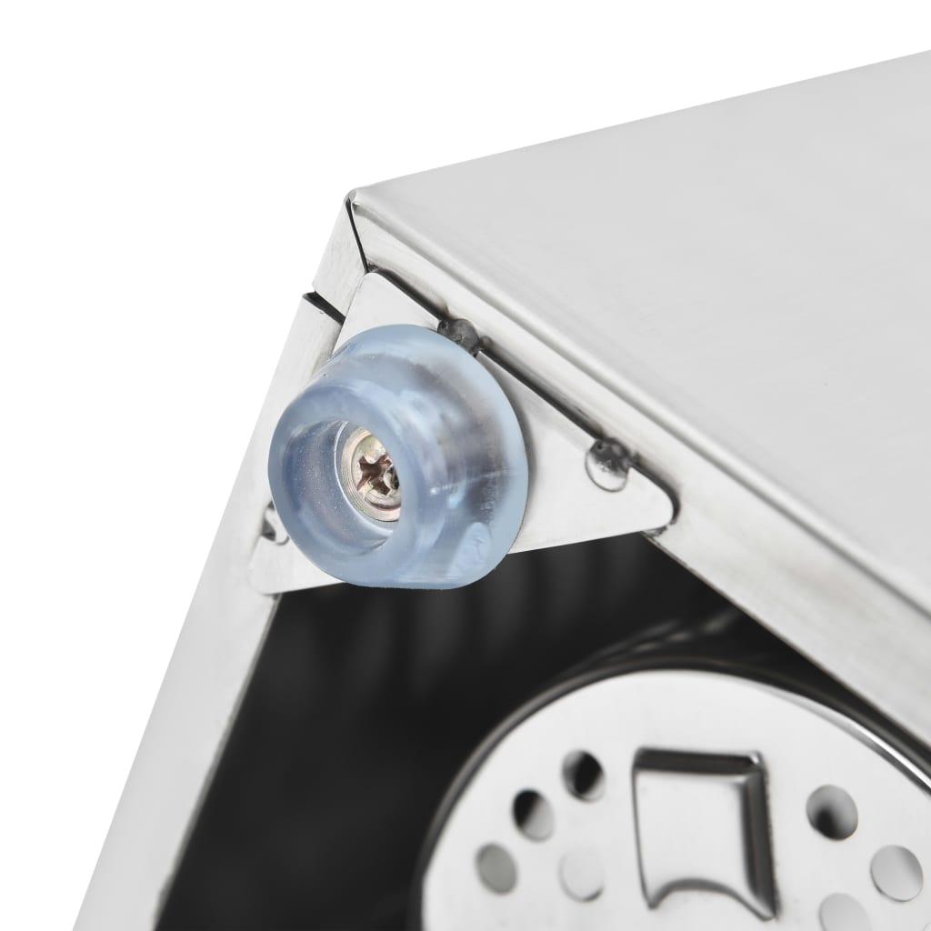 Suport pentru tacâmuri 3 inserții, oțel inoxidabil, rectangular