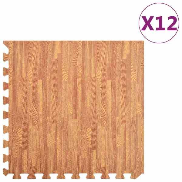 vidaXL Saltele exerciții, 12 buc., fibră lemnoasă, 4,32 ㎡, spumă EVA