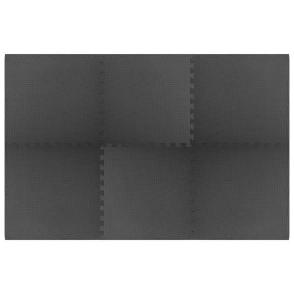 vidaXL Saltele de exerciții, 6 buc., negru, 2,16 ㎡, spumă EVA