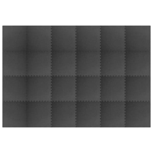 vidaXL Saltele de exerciții, 24 buc., negru, 8,64 ㎡, spumă EVA