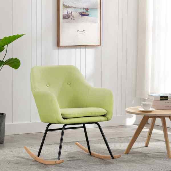 vidaXL Scaun balansoar, verde, material textil