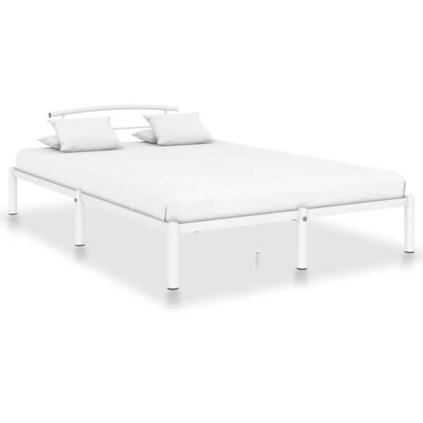 vidaXL Cadru de pat, alb, 160 x 200 cm, metal