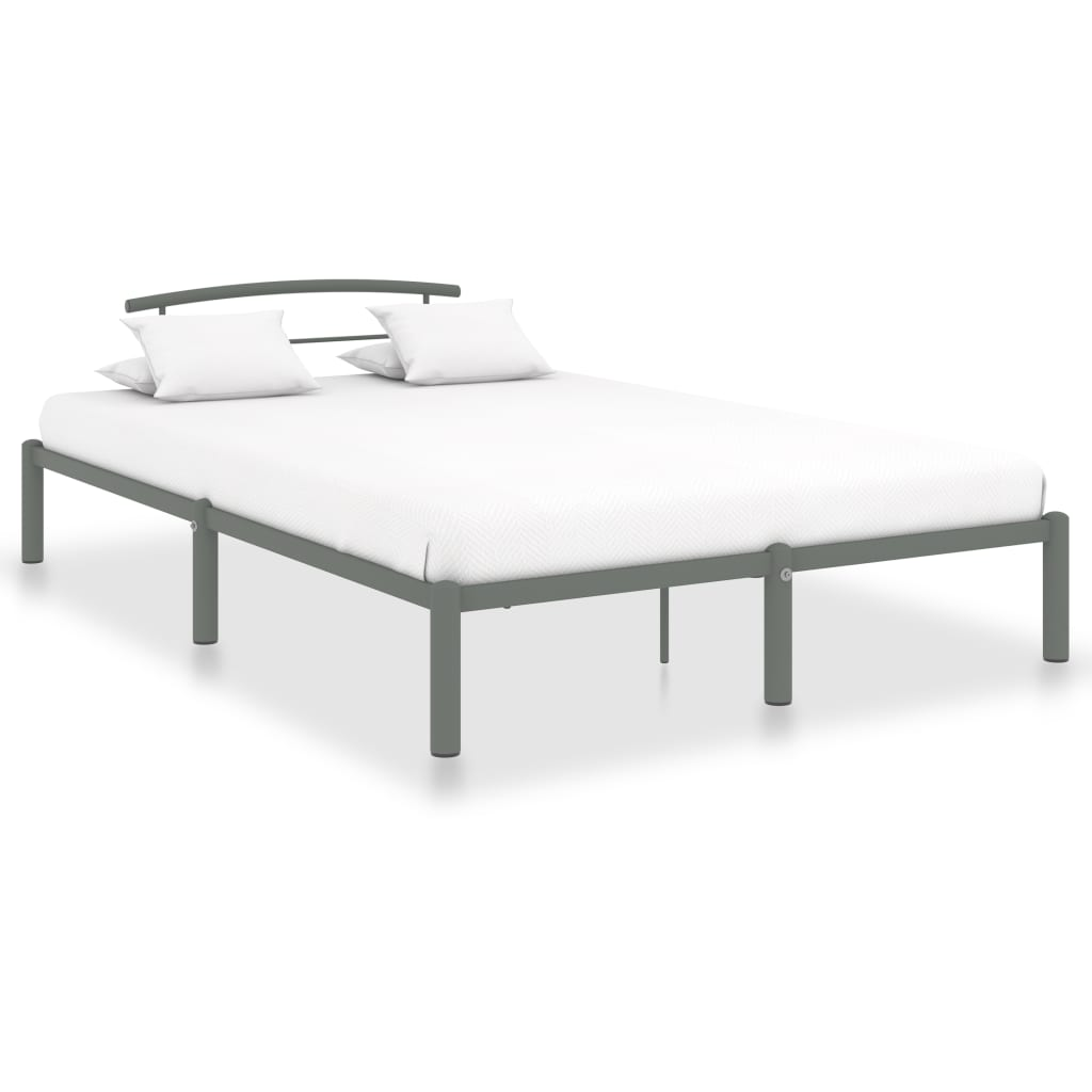 vidaXL Cadru de pat, gri, 160 x 200 cm, metal