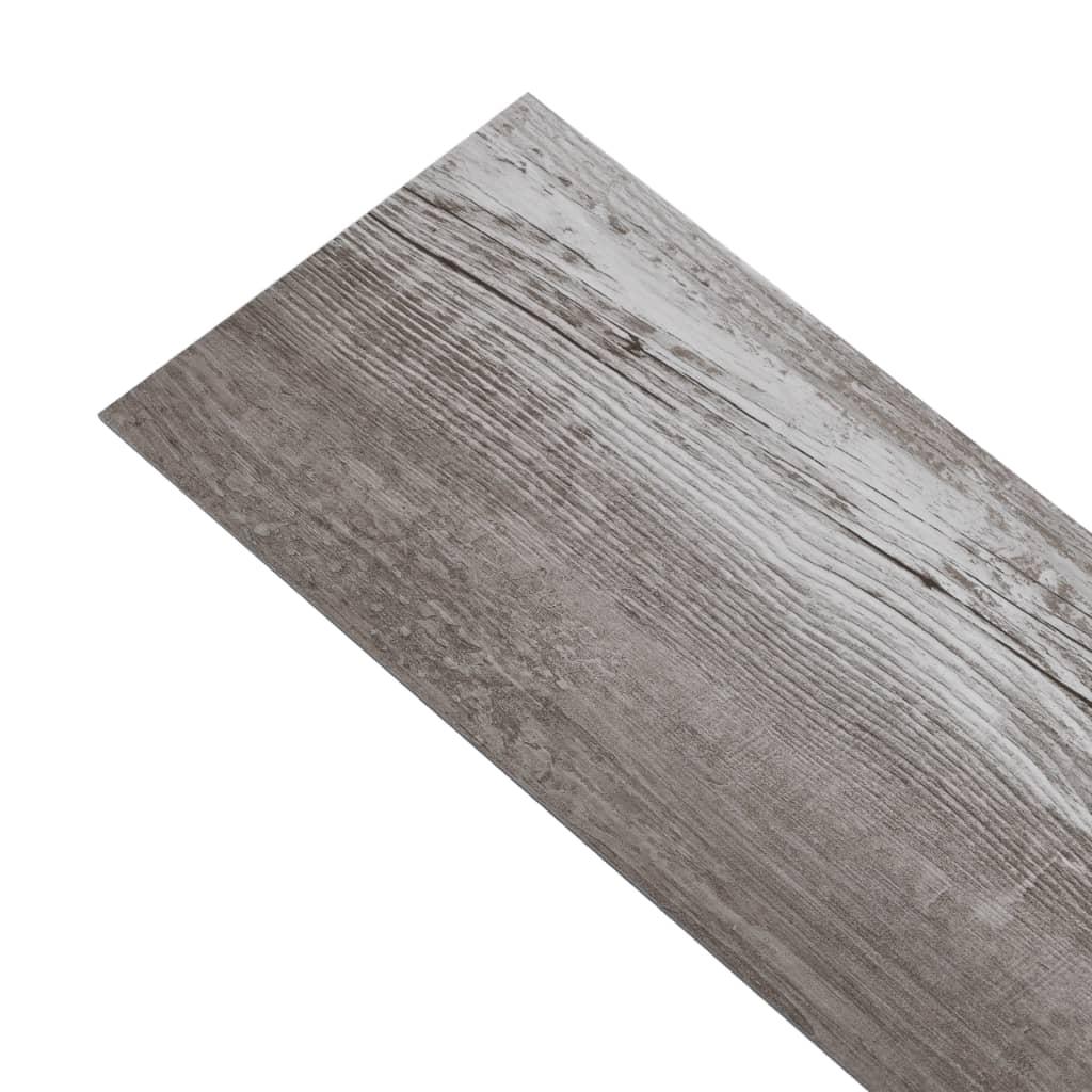 Plăci de pardoseală, maro lemn mat, 5,26 m², PVC, 2 mm