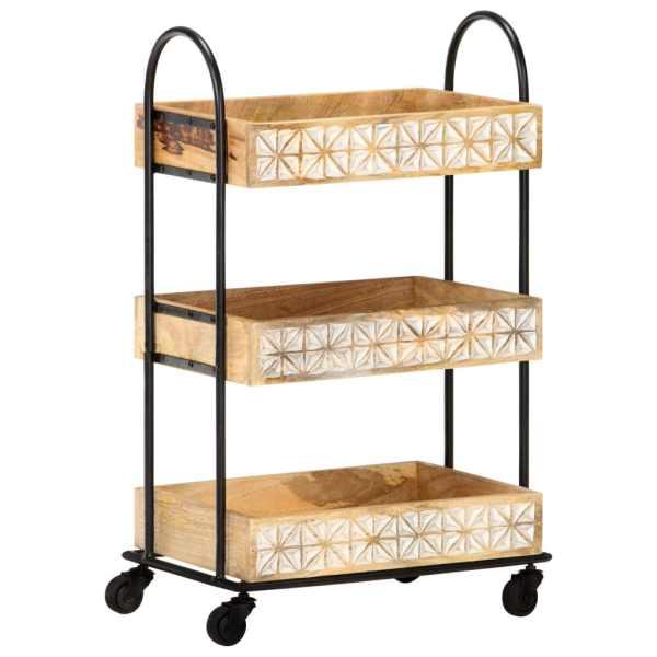 vidaXL Cărucior bucătărie cu 3 niveluri, 46x30x76 cm, lemn masiv mango