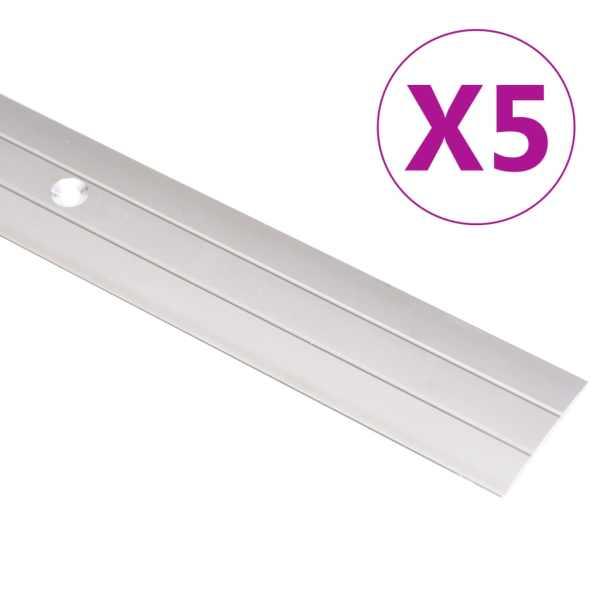 vidaXL Profile de pardoseală, 5 buc., auriu, 134 cm, aluminiu