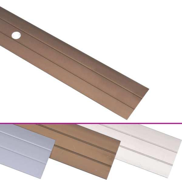 Profile de pardoseală, 5 buc., maro, 100 cm, aluminiu