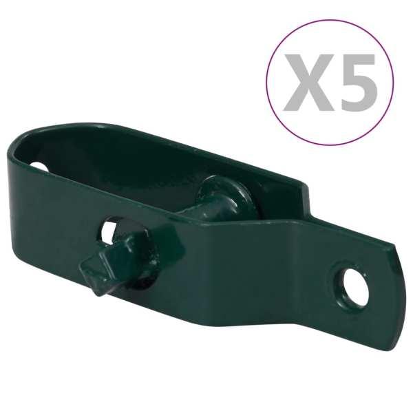 vidaXL Dispozitiv tensionare sârmă gard 5 buc. verde oțel 100 mm