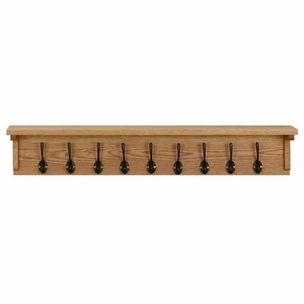 vidaXL Cuier de haine, 90 x 16 x 16 cm, lemn masiv de stejar