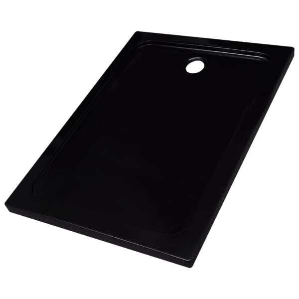 vidaXL Cădiță de duș, negru, 80 x 110 cm, ABS