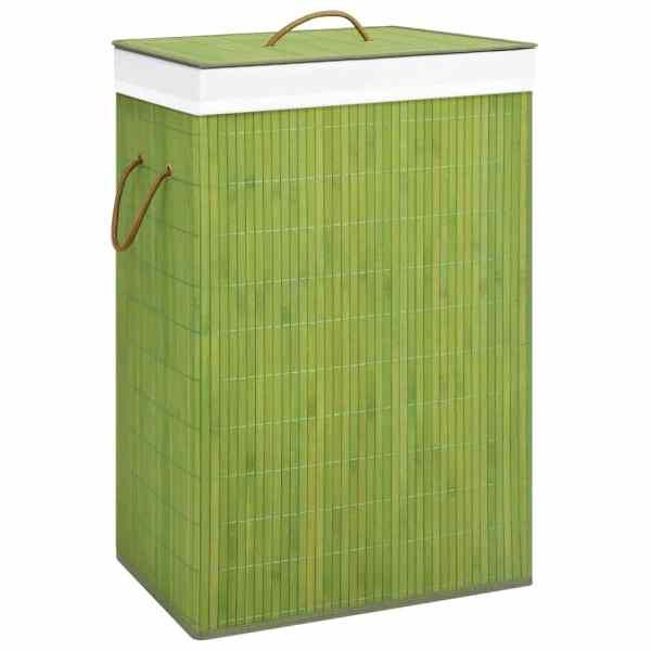 vidaXL Coș de rufe din bambus, verde