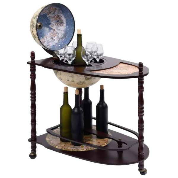 Bar tip glob pământesc suport sticle vin, verde, eucalipt