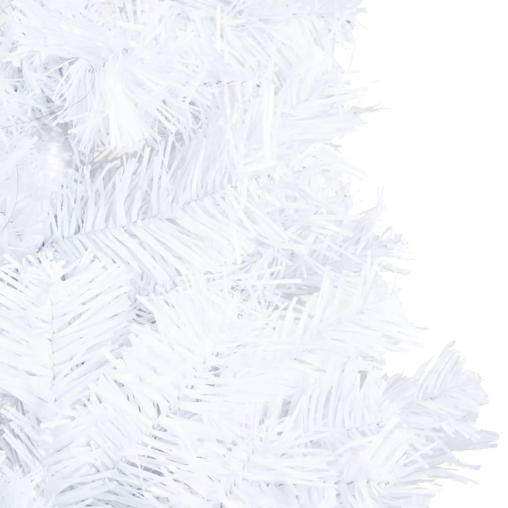 Pom de Crăciun artificial cu ramuri groase, alb, 180 cm, PVC
