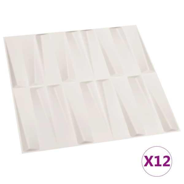 Panouri de perete 3D, 12 buc., 0,5 x 0,5 m, 3 m²