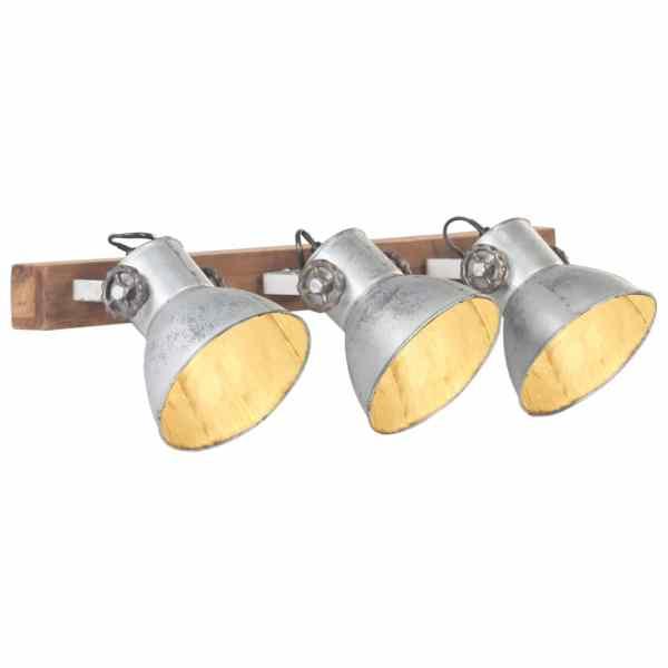 vidaXL Lampă de perete industrială, argintiu, 65 x 25 cm, E27