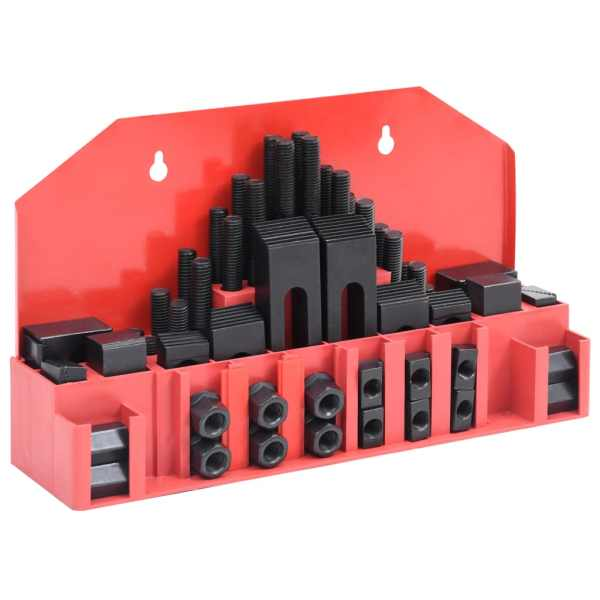 vidaXL Set de fixare, 58 piese, oțel, slot T M14
