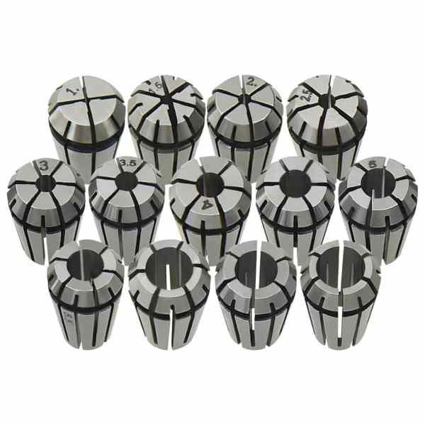 vidaXL Coliere ER11 13 buc., set instrumente de strunjire
