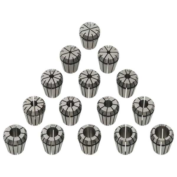 vidaXL Coliere ER25, 15 buc., set de instrumente de strunjire