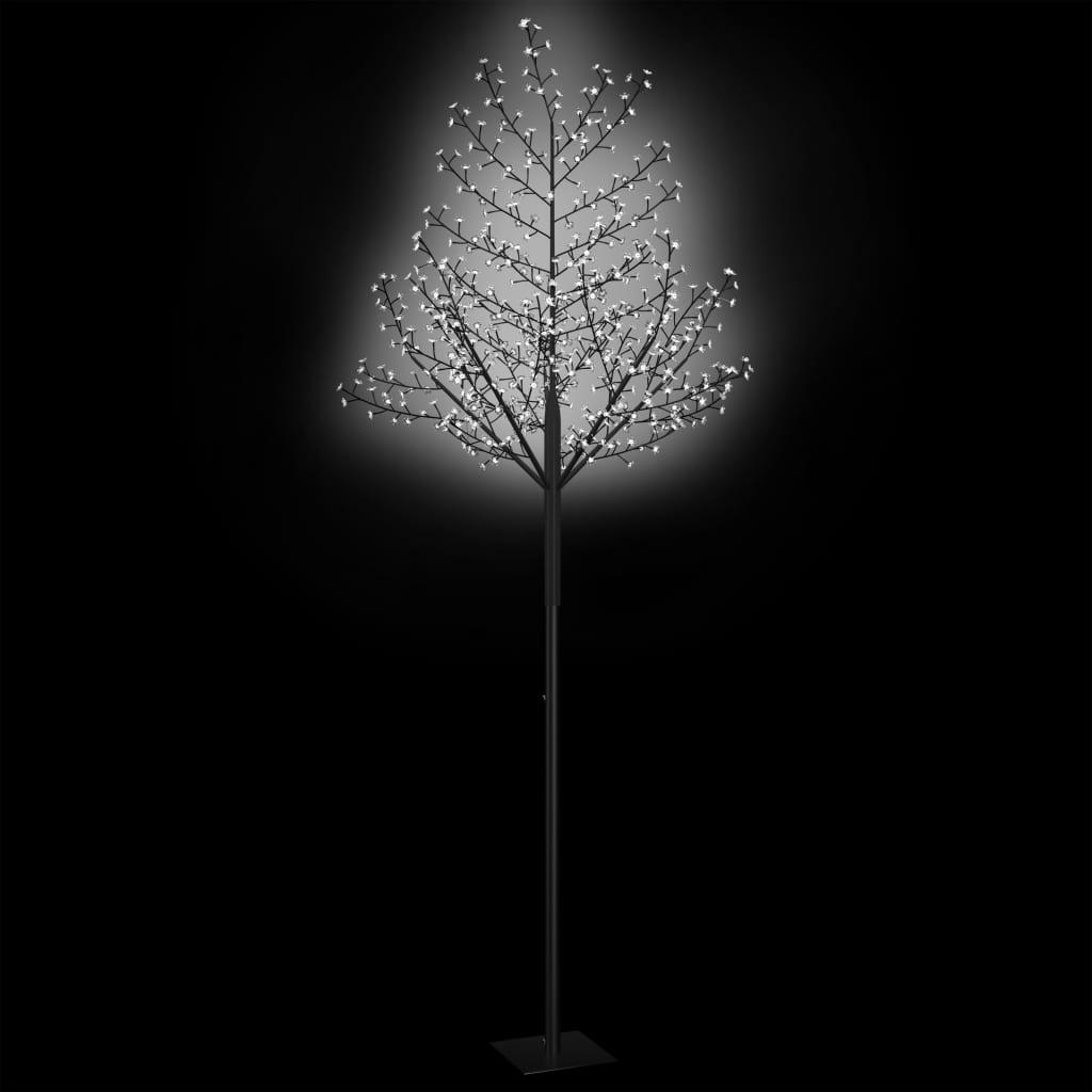 Pom Crăciun, 600 LED-uri alb rece, flori de cireș, 300 cm