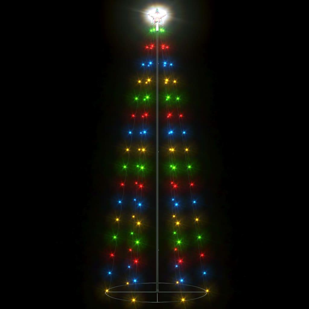 Decorațiune brad Crăciun conic 100 LED-uri colorate 70×180 cm