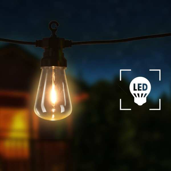 vidaXL Ghirlandă lumini exterior, 60 buc., 59 m, oval, decor Crăciun