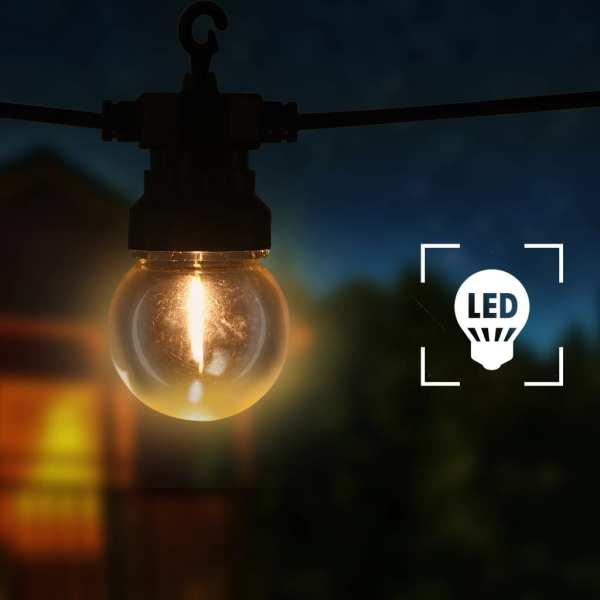 vidaXL Ghirlandă lumini exterior, 20 buc., 23 m, rotund, decor Crăciun