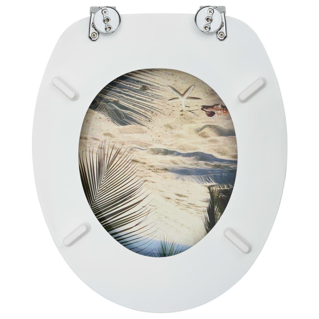 vidaXL Capac WC, MDF, model plajă